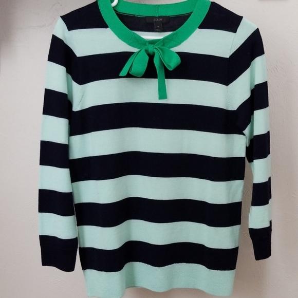5e21b69a7ee J. Crew Sweaters - J Crew    Striped 100% Merino wool sweater